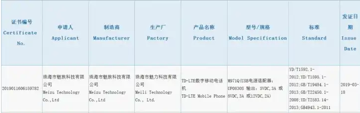 Alleged Meizu 16s Got Certified At 3C