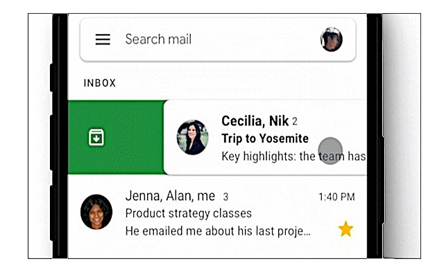 Gmail for iOS Rolls Out Customizable Swipe Actions