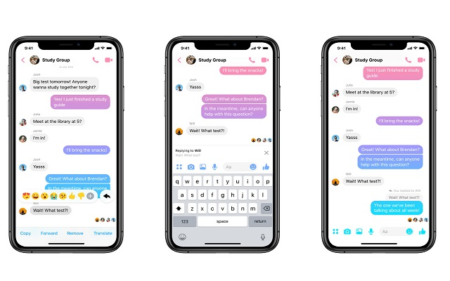 Facebook Messenger gets Quoted Reply Feature