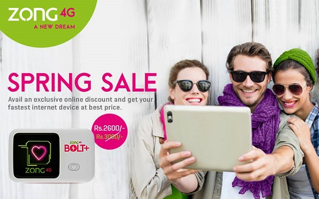 Zong 4G Spring Sale
