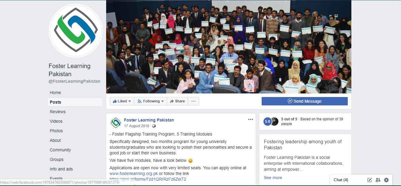 Foster Learning Pakistan Fb Page