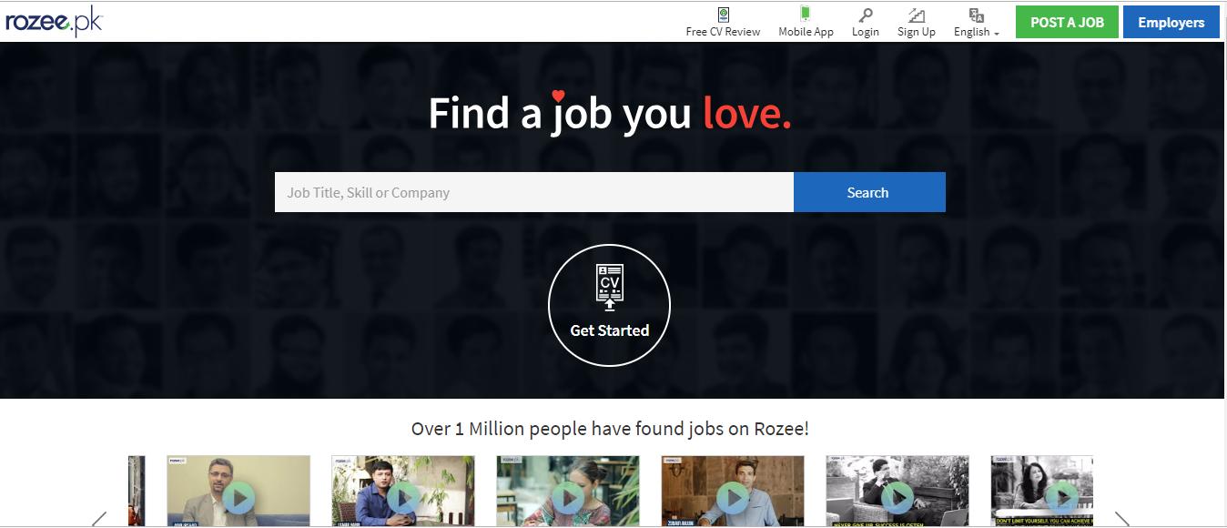Rozee.pk website