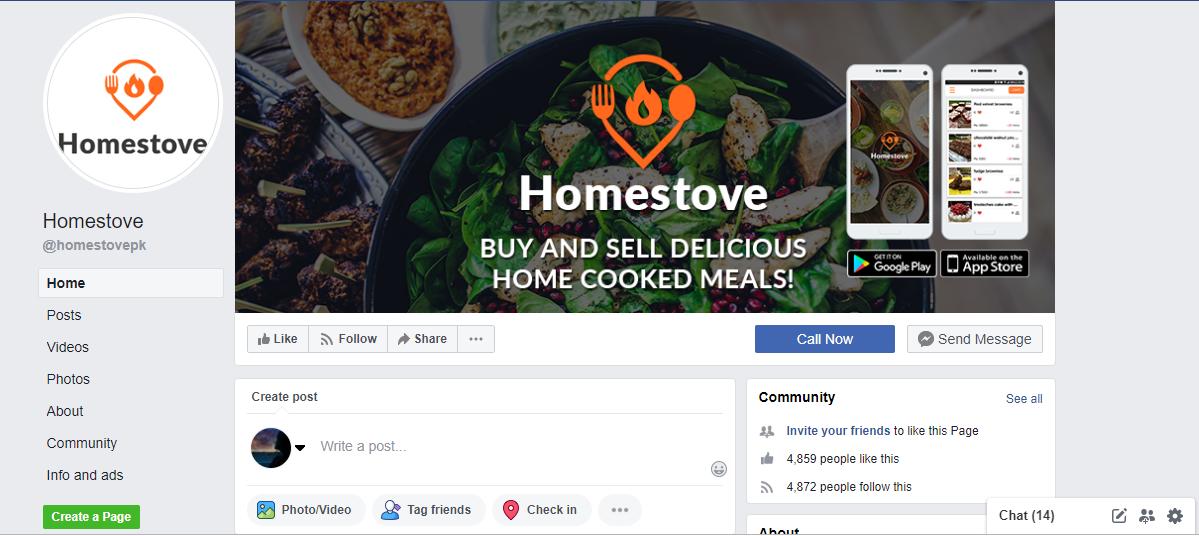 Homestove Facebook Page