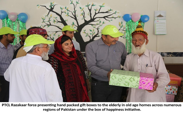 PTCL Razakaar Organizes Box of Happiness for the Elderly in Old Age Home