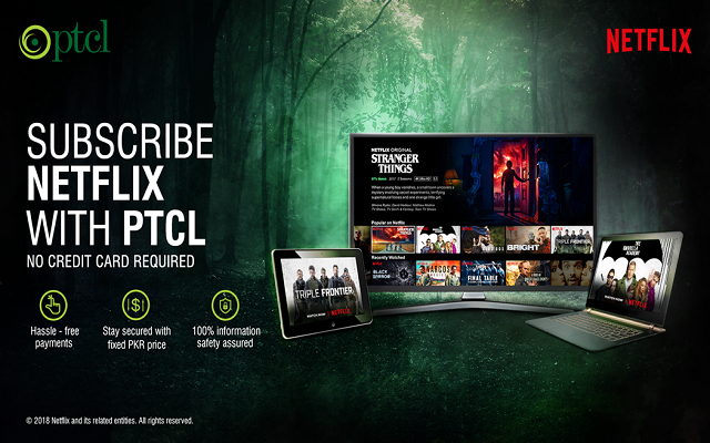 Now PTCL Customers can Pay for Netflix subscription Through their Monthly Broadband Bills