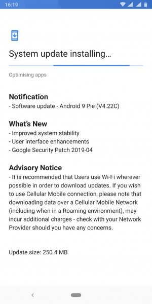 Nokia 9 PureView Latest Updateweighs 250.4MB in Size