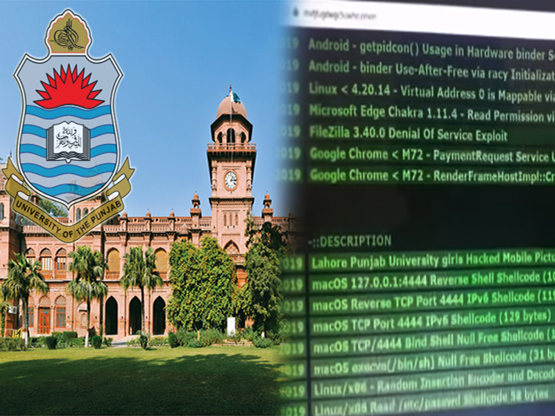 Punjab University Hacking Scandal: Personal Data of PU Lahore Female Students Sold on Deep Web