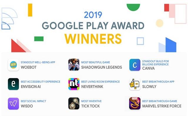2019 Google Play Award winner