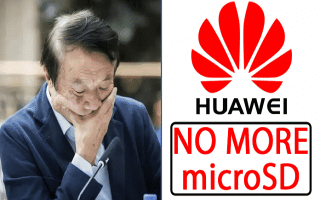 Huawei gets banned from using microSD cards in future smartphones