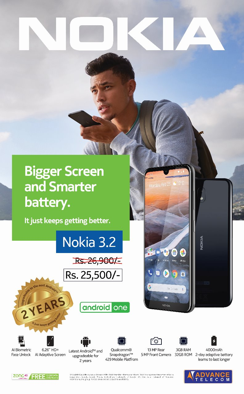 Enjoy A Bigger Screen & Smarter Battery With Nokia 3 2 Available At
