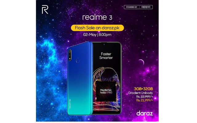realme 3 Earned a High Rating of 5 on Daraz PK