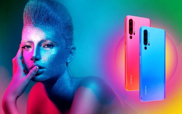 Honor 20 Pro Promo Images Leak Suggests Multiple Color Options Pop-up Selfie Camera