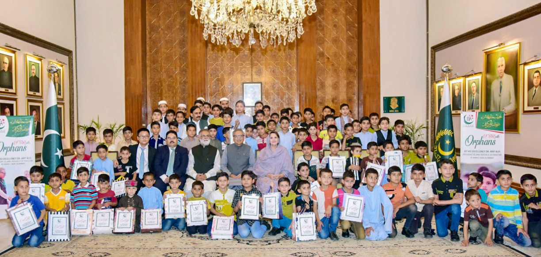 President iftar orphans