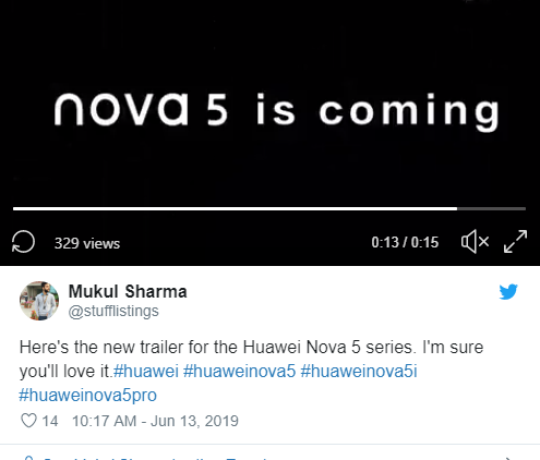 Huawei Nova 5 32 MP Camera Confirmed