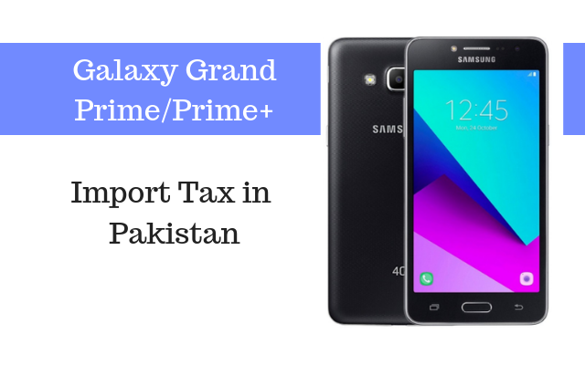 grand prime plus tax in pakistan