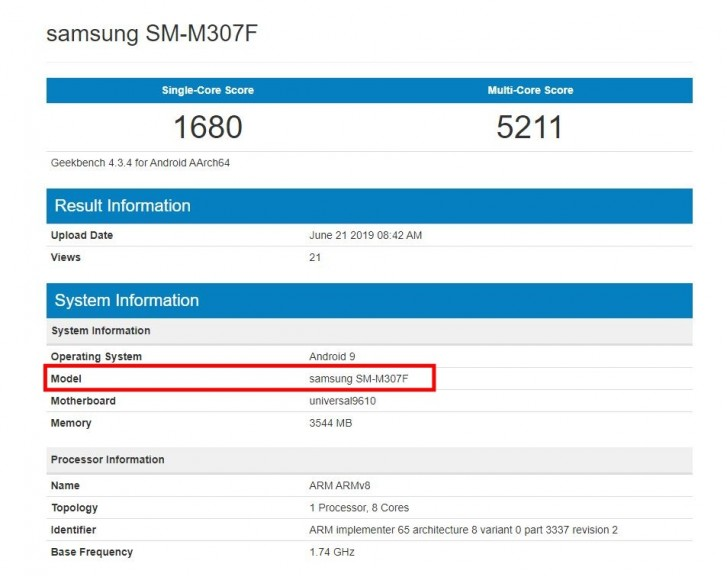 Samsung Galaxy M30s Surfaced On Geekbench