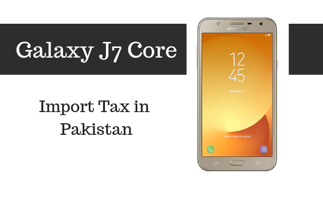 j7 core tax in pakistan