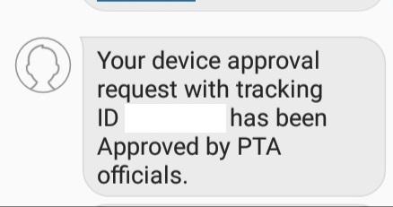Mobile Registration Through PTA's Two Steps Verification