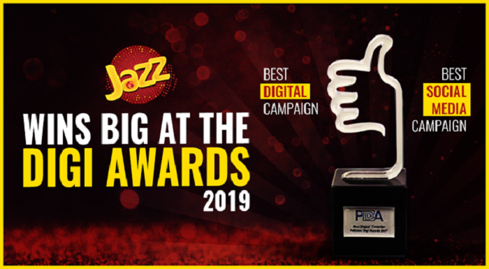 Photo of Jazz Wins Big at Pakistan Digi Awards '19