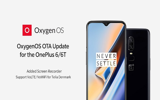 OnePlus 6/6T Receive Screen Recorder in New Update
