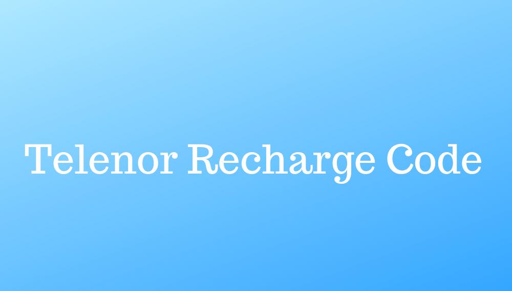 Telenor Recharge Code
