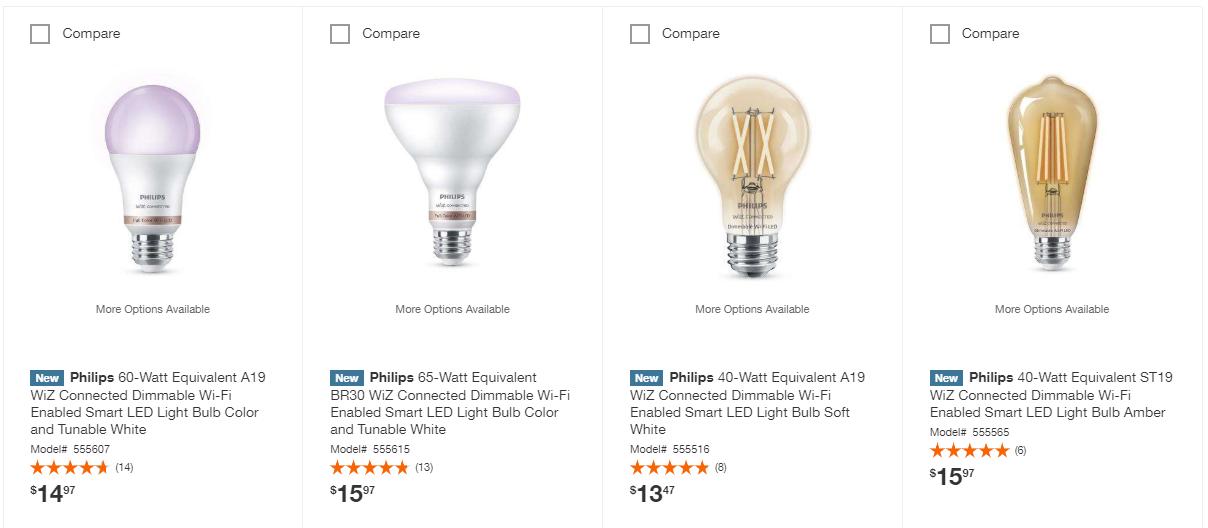 Philips WiFi Connected bulbs