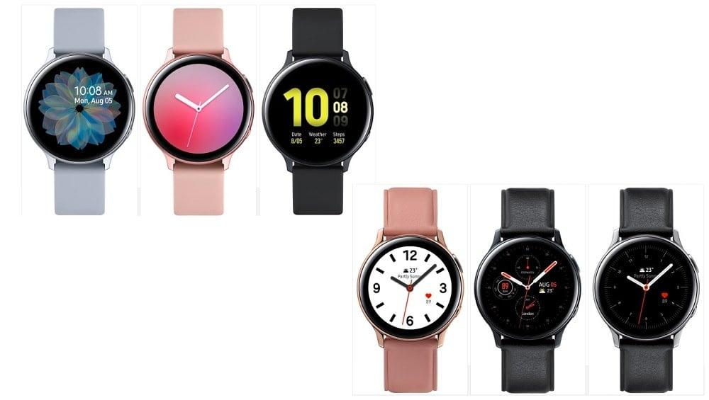 Galaxy Watch Active2 renders
