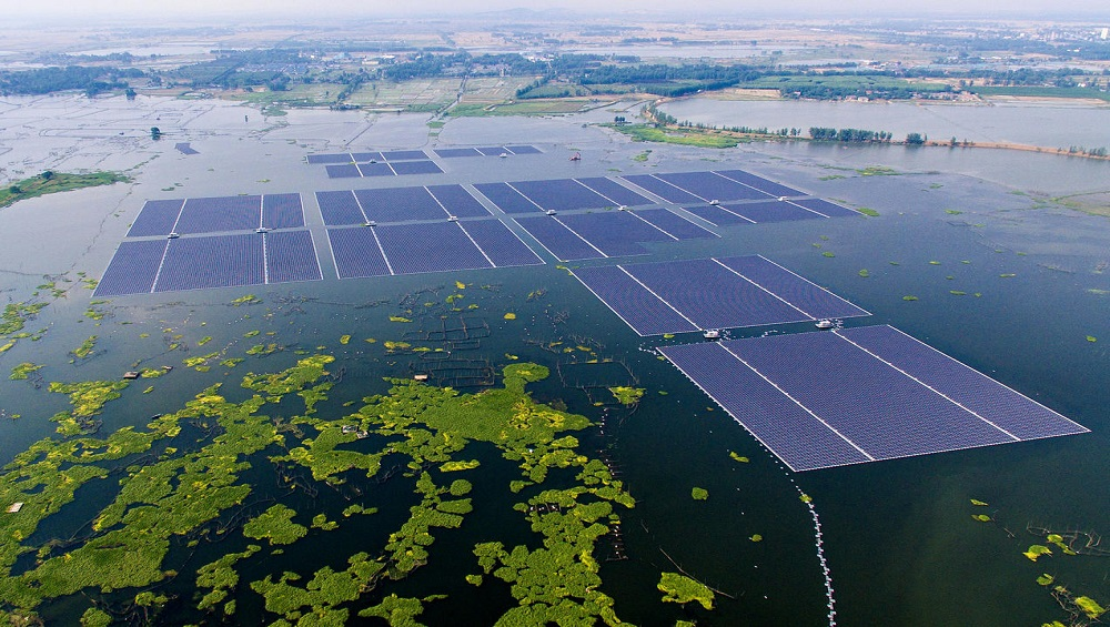 Japan's Floating Solar Power Saves Valuable Space on Land