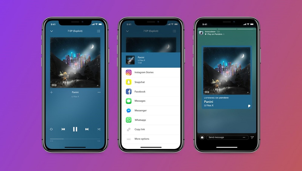 Pandora Announces Instagram Stories Integration