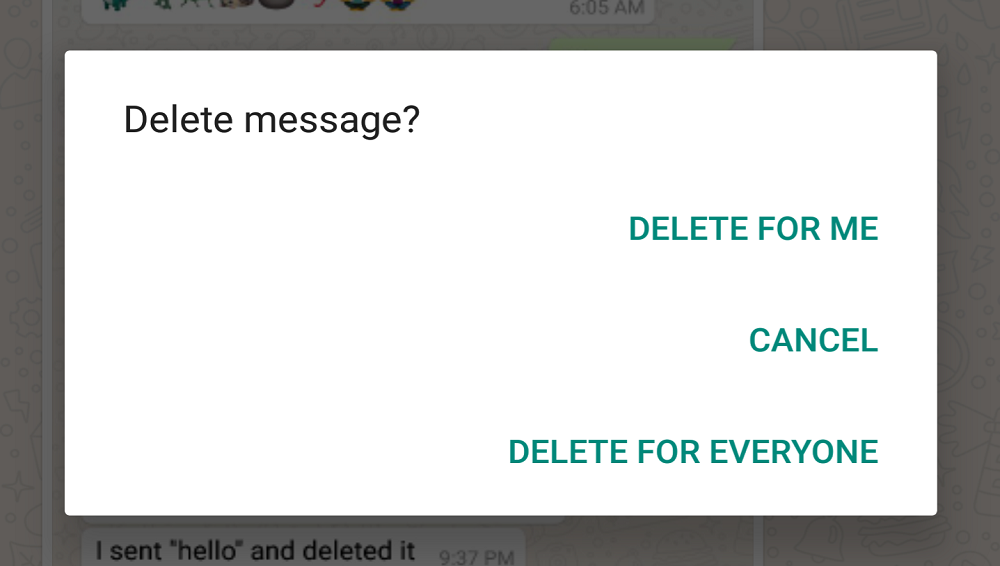 Beware! WhatsApp Delete for Everyone Feature is Not Safe for iPhone Users