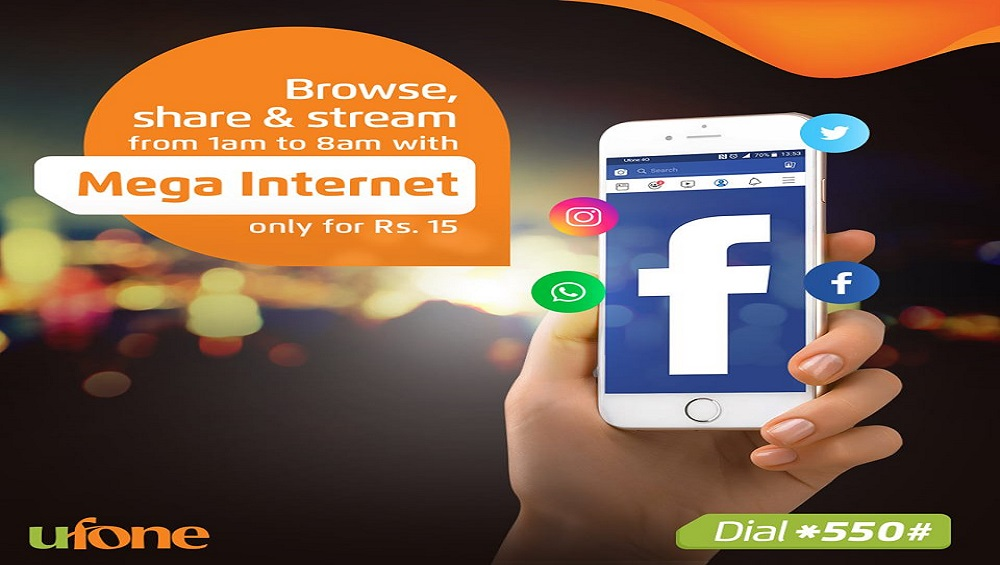 You only have to pay Rs. 15 for Ufone amazing internet offer.