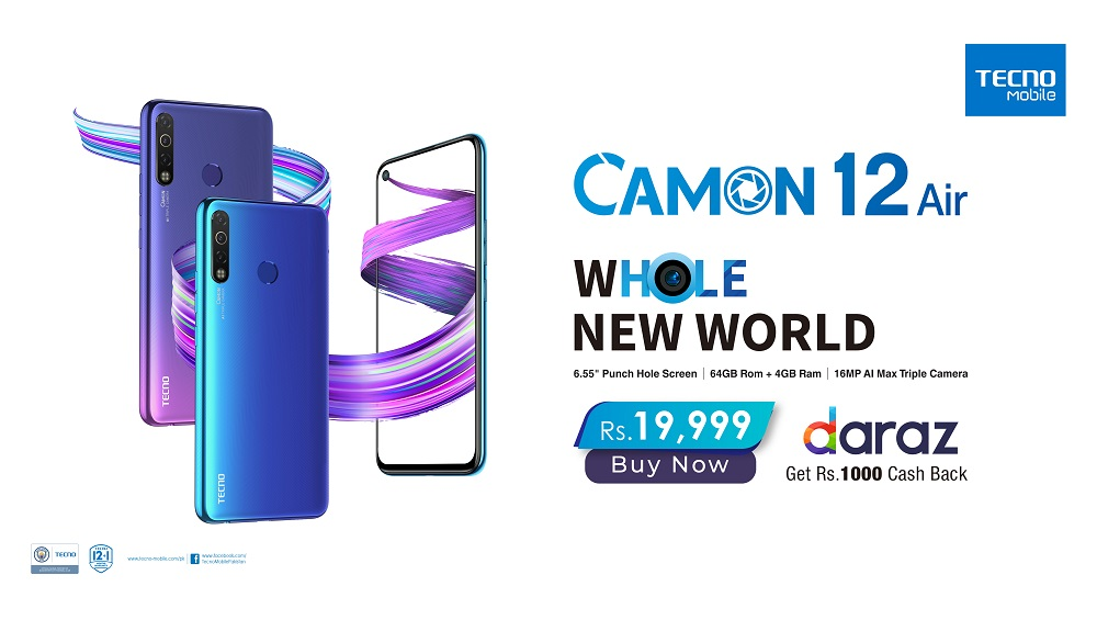 camon 12 air launches