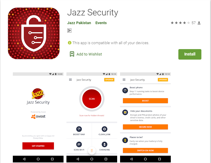Jazz Security App-Clean Master, Vault And Firewall, All At One Place