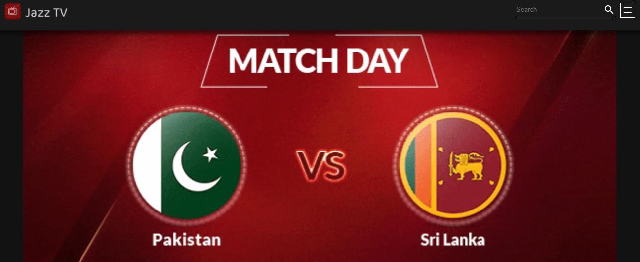 Pak VS Siri Lanka: Now Watch online Match on Jazz TV App