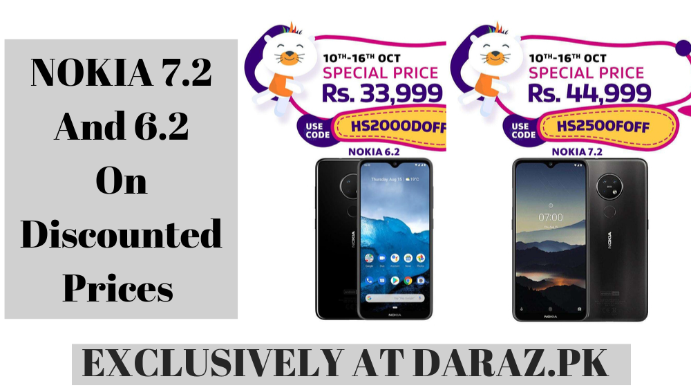 NOKIA 7.2 And 6.2 Available At Daraz.pk On Shockingly Low Prices