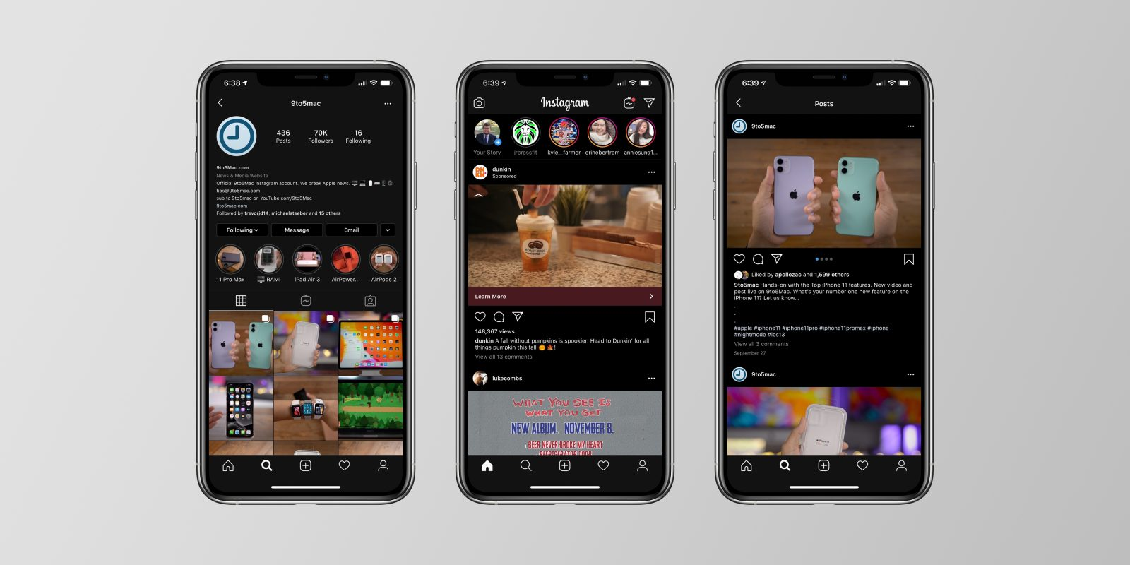 Instagram Rolls out Dark Mode for iOS and Android Globally