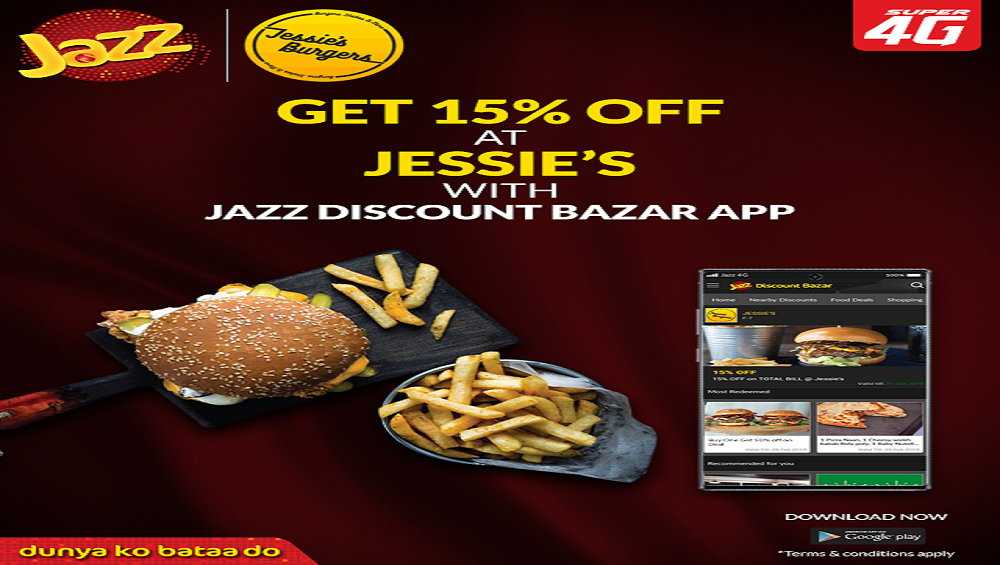 Get 15% Off at Jessie's with Jazz Discount Bazar App