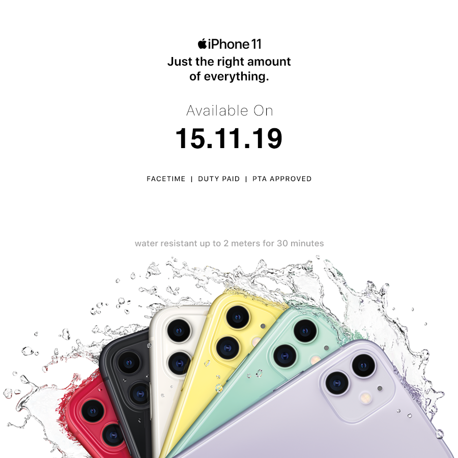 Pre-Book iPhone 11 and iPhone 11 Pro in Pakistan