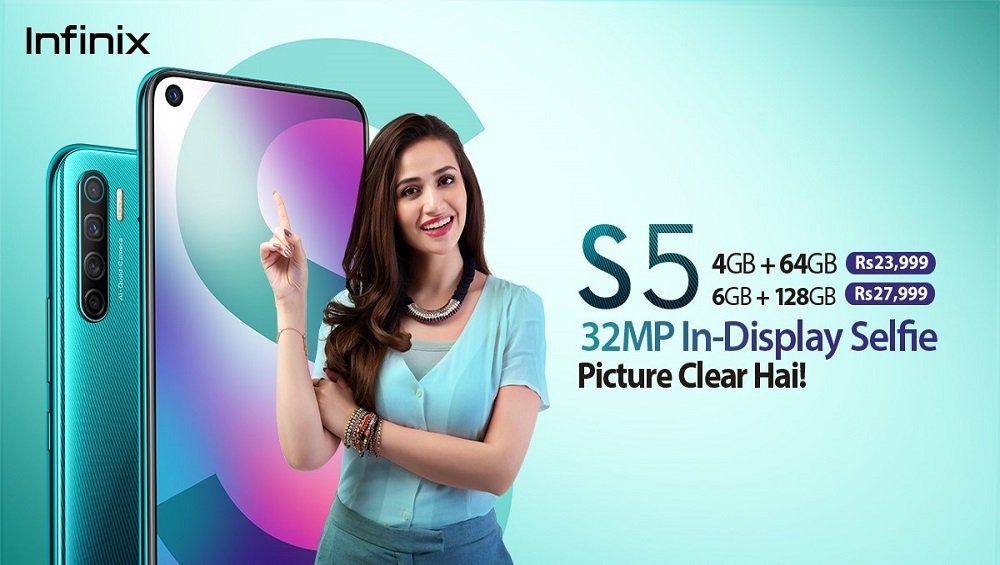 Infinix is geared up to launch Pakistan's first 32MP In-display Selfie Camera phone, S5