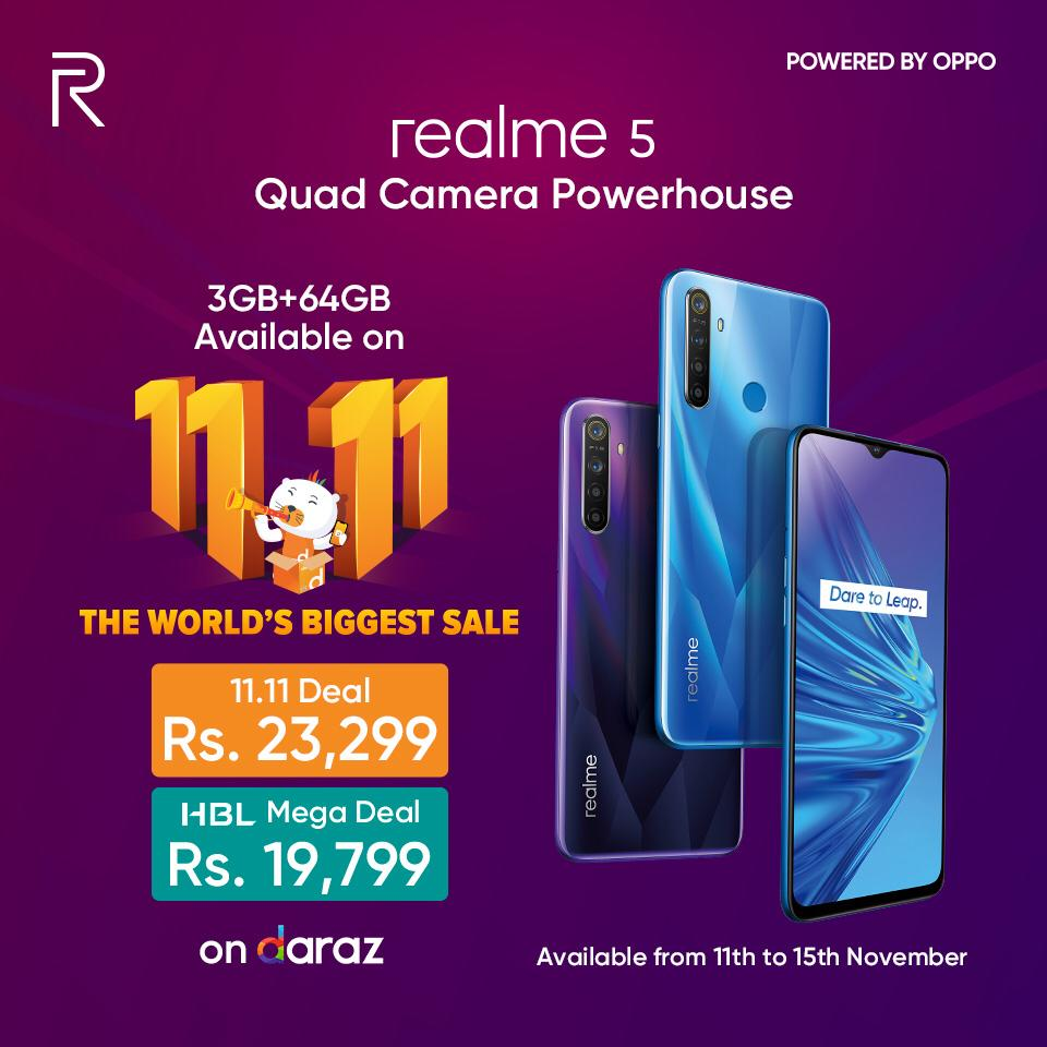 Get The Best-selling Phone Realme 5 At An Amazing Discount On Darazpk