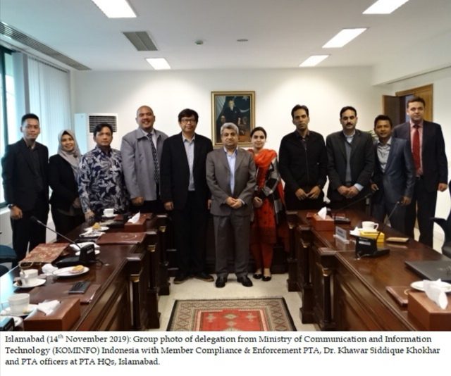 Indonesian Delegation Appreciates PTA For Implementing DIRBS