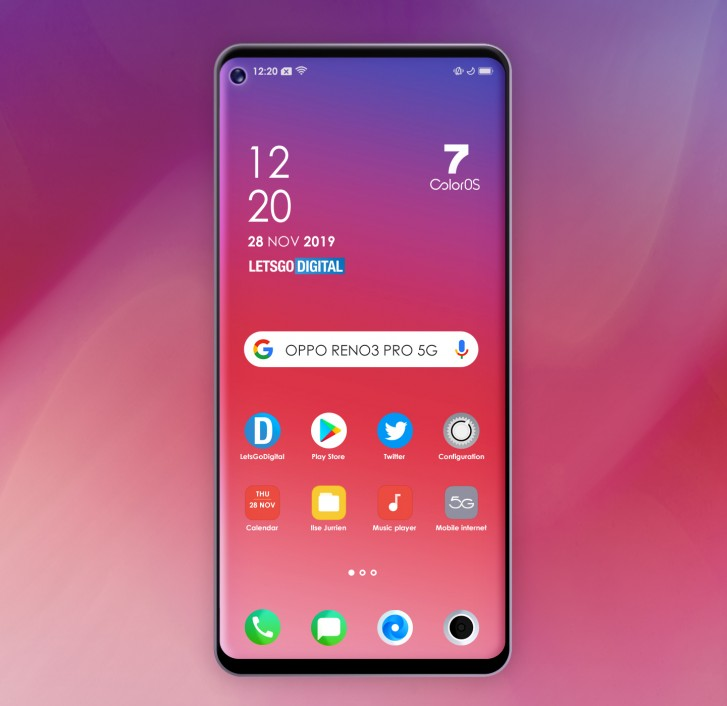 Oppo Reno3 Pro 5G: Here is a Full Frontal Render