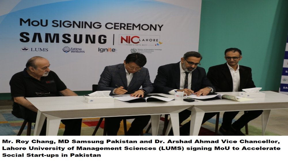 Photo of SAMSUNG Pakistan & LUMS Sign MoU to Accelerate Social Start-ups in Pakistan