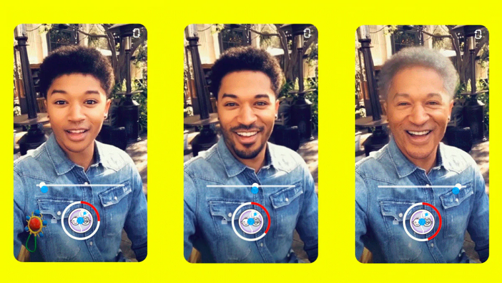 Snapchat Gets Time Machine Lens