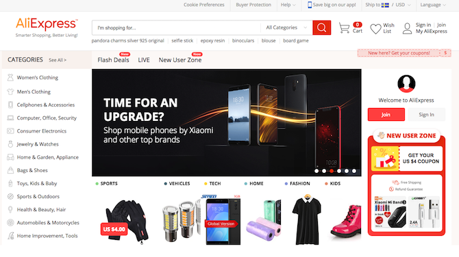 top 5 online shopping websites