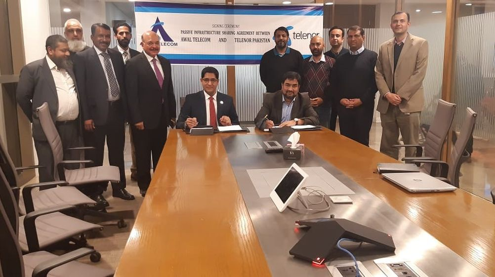 AWAL Telecom signs Tower-Sharing partnership with Telenor Pakistan to further mature the Country's Telecom Infrastructure