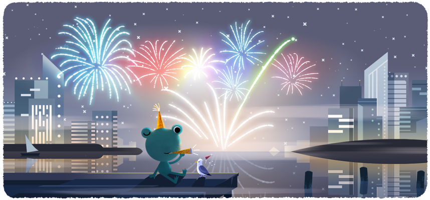 Google Doodle Welcomes New Year 2020 With Fireworks