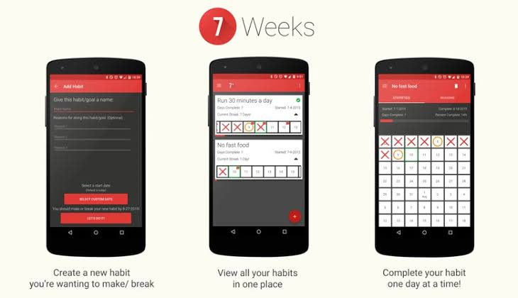 7 weeks habit app