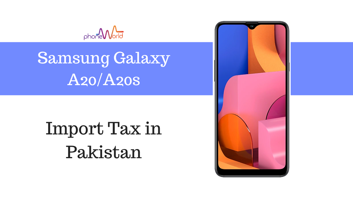 Samsung Galaxy A20 tax