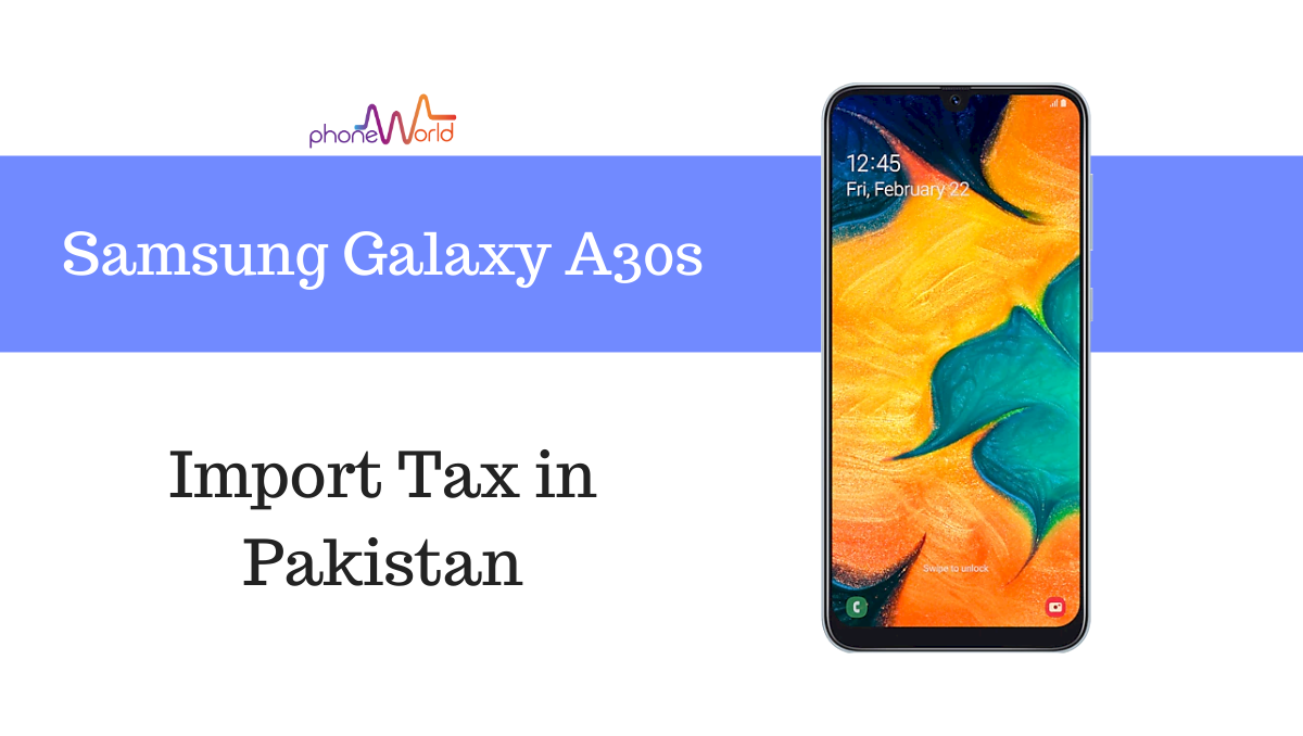 Samsung Galaxy A30s tax